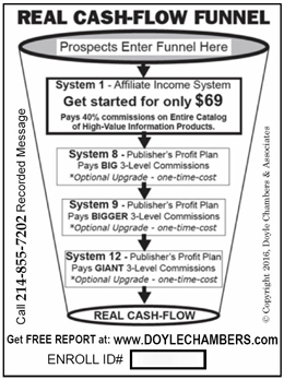 real cash-flow funnel postcard